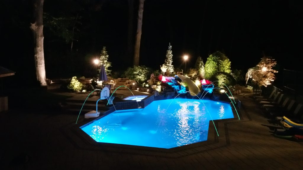 Image of: Lighting Pool Lighting Led Pool Lights In New Jersey